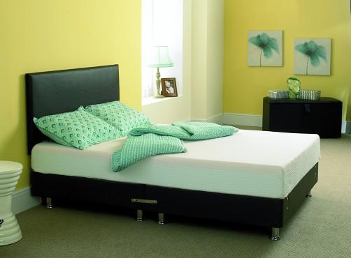 Pvc Leather Bed Divan Beds Memory Active Mattresses